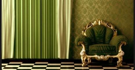 Кресло у стены