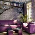 Сочетания изысканного лилового цвета в интерьере