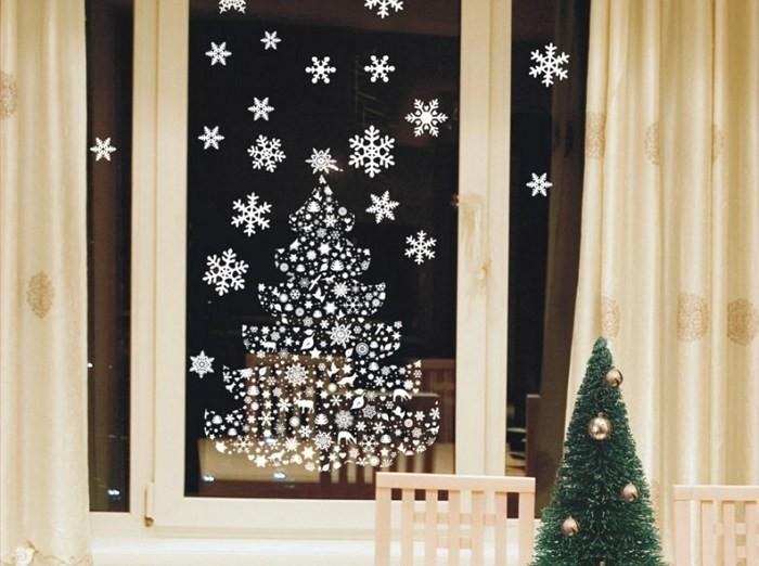 Новогодний рисунок на окна своими руками