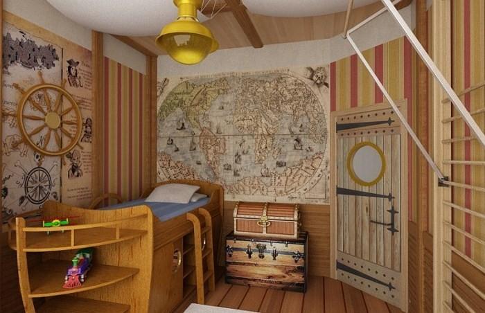 детская комната морской стиль фото