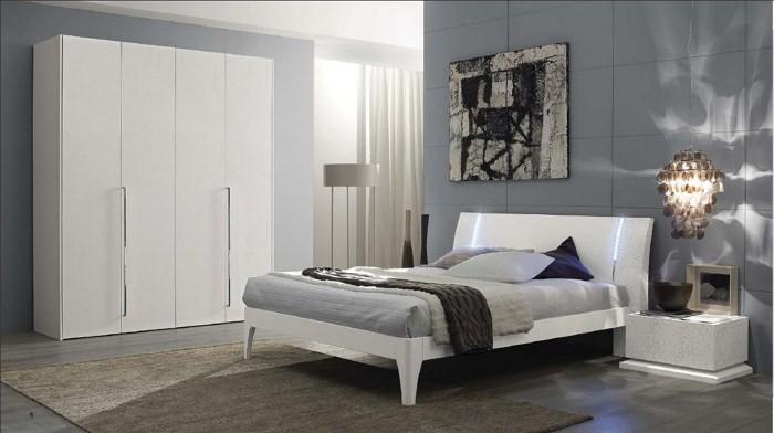 Геометрические мотивы и белая мебель