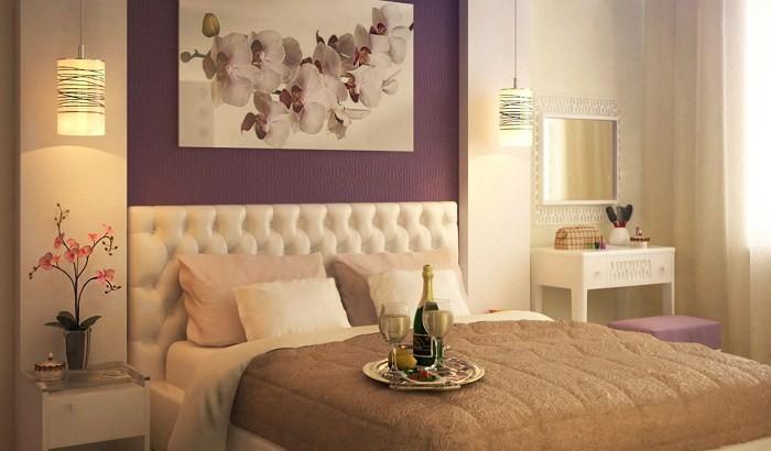 Шампанское на постели и цветы