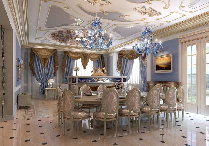 Голубой хрусталь и зеркальный потолок