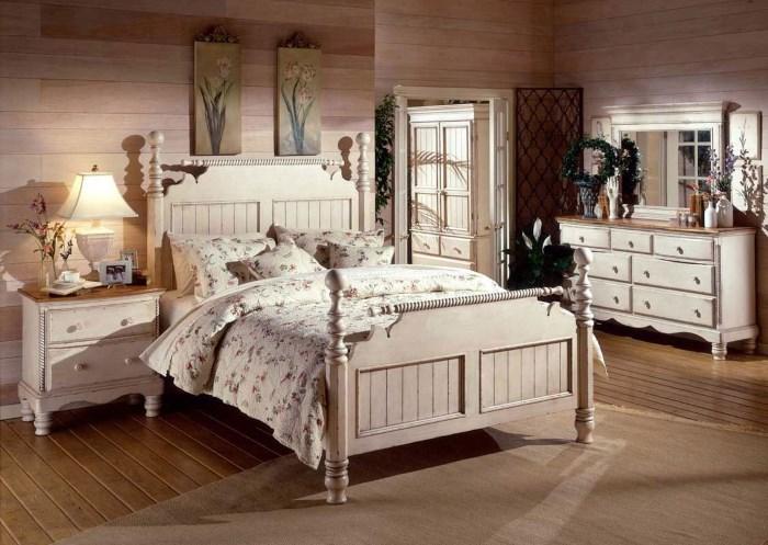 Кровать с набалдашниками
