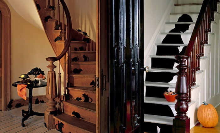 Силуэты на лестнице