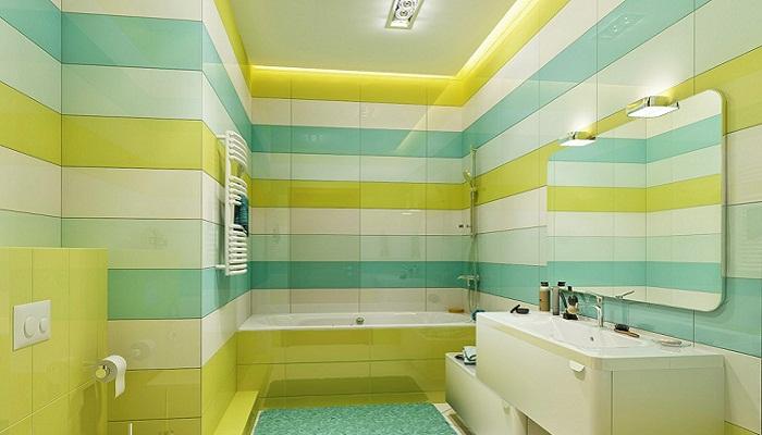 Разноцветная ванная