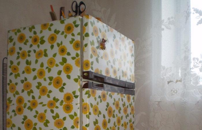Декупаж холодильника