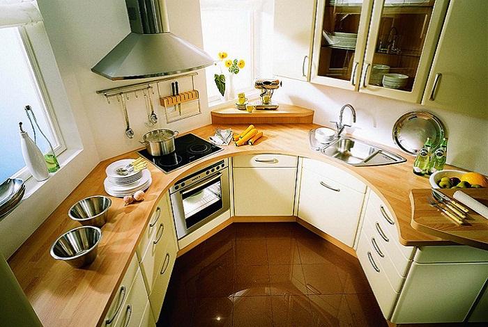 Полукруглая кухня