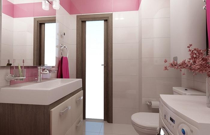 Розовая плитка
