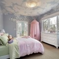 Натяжной потолок в детской комнате – дизайн и фото