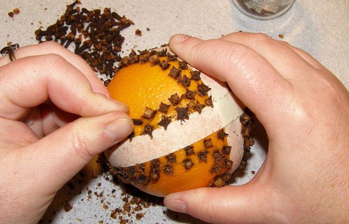 Апельсиновые помандеры своими руками