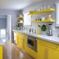 Сочетания цветов в желтой кухне – разбавляем солнечный интерьер