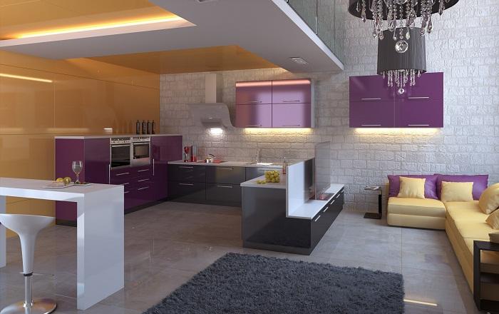 Фиолетовые шкафы