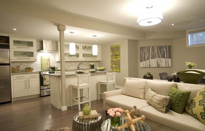 Фото дизайн кухни гостиной 20 кв.м фото