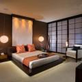 Интерьер спальни в утонченном японском стиле